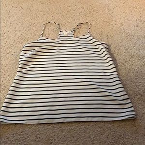 J. Crew black and white striped cami